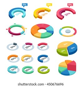 Isometric icons, elements of infographics, statistics, Meto data charts, graph. Business diagram data finance, graph report, information data statistic, infographic analysis tools 3d illustration
