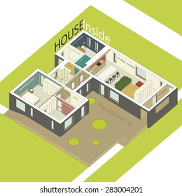 Fabulous 3D Room Layout Stock Illustrations Images Vectors Home Interior And Landscaping Oversignezvosmurscom