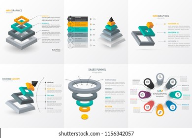 Isometric Infographic design set. Infographics for business concept. Can be used for presentations banner, workflow layout, process diagram, flow chart, info graph