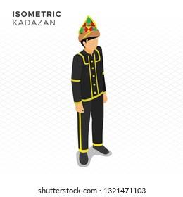 Isometric Kadazan Man