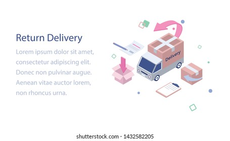 Isometric of logistic return delivery