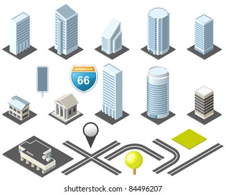 Isometric map toolkit downtown