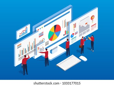 Isometric multiple web pages and data analysis