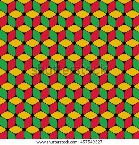 Isometric Repeating Cube Based Pattern Wallpaper Stock Vector