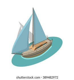 Isometric Sailboat