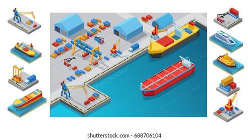 Isometric Seaport Concept