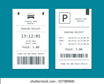 Isometric set of Parking tickets. Flat illustration vector icon for web