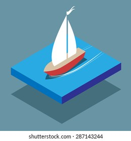 isometric ship