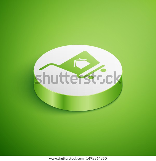 Isometric Shopping Cart House Icon Isolated Stock Vector Royalty Free 1495564850