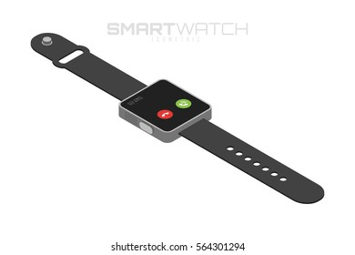 Isometric smart watches. Innovation future technologies. Isolated on white background for your projects and infographics