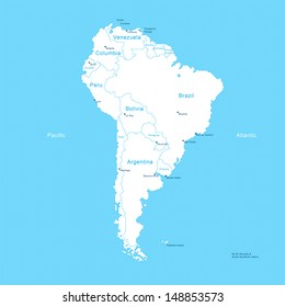 Isometric South America Map