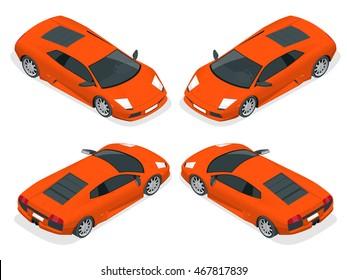 Red Lamborghini Car Stock Vectors Images Vector Art Shutterstock