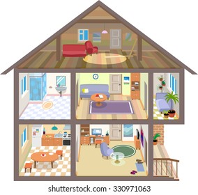 A isometric vector house