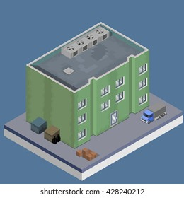 Isometric vector image of a company.