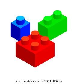 Isometric vector set of building blocks