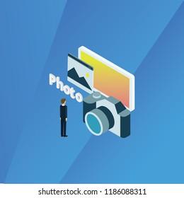 Isometry Photo Concept