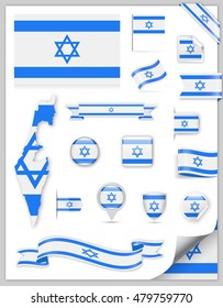 Israel Flag Set - Vector Collection