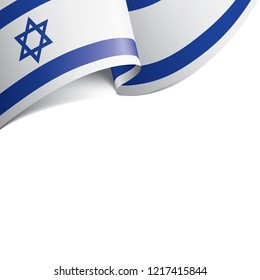 Israel flag, vector illustration on a white background