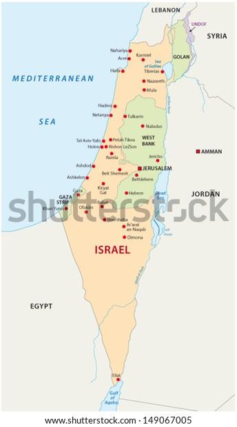 Israelin Kartta Arkistovektori Rojaltivapaa 149067005