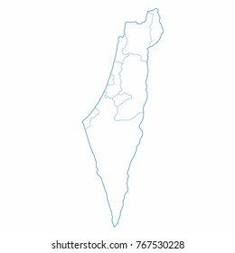 Israel World Map Country Outline Graphic Stock Vector Royalty Free