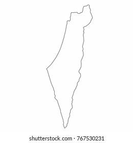 Israel Map Images Stock Photos Vectors Shutterstock
