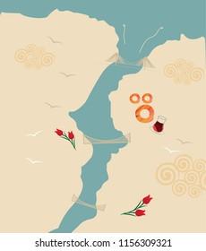 istanbul bosphorus map