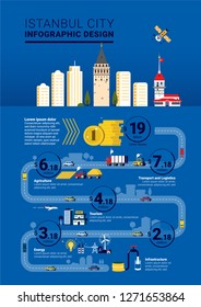 Istanbul City Infographic Template Design
