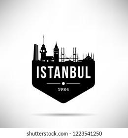 Istanbul City Modern Skyline Vector Template