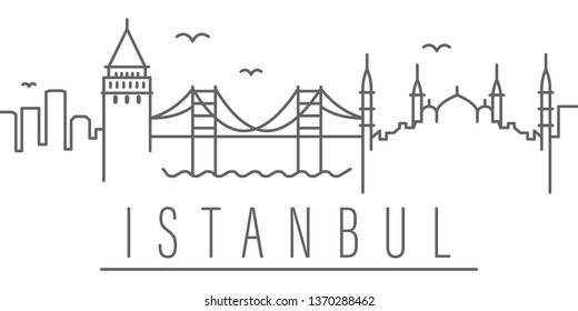 Istanbul city outline icon. Elements of cities and countries illustration icon. Signs and symbols can be used for web, logo, mobile app, UI, UX on white background