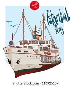 Istanbul Ferry illustration