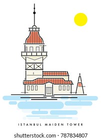 Istanbul maiden tower vector file