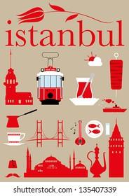 Istanbul Pictogram Set