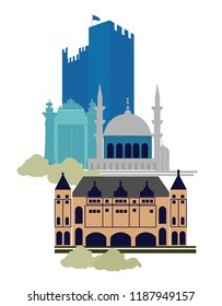 Istanbul silhouette illustration