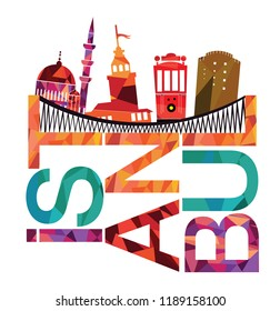 Istanbul typography and illustration