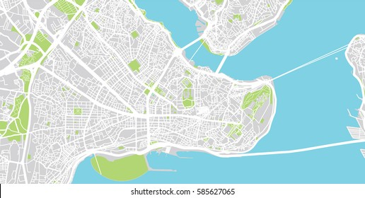 Istanbul vector city map