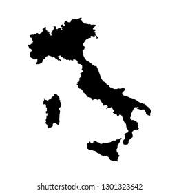 Italia map. italia icon