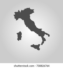 Italia map icon isolated on white background - Italia icon vector