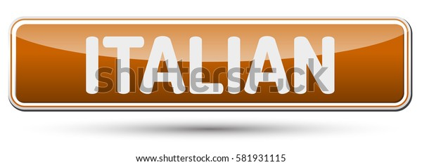ITALIAN - Abstract beautiful button with text.