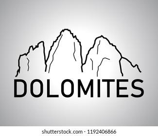 Italian Dolomites logo vector - tre cime di lavaredo
