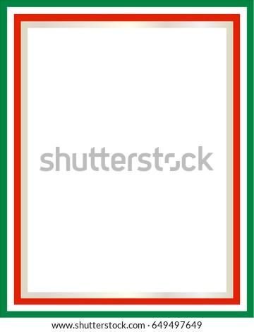 italian flag border blank space text stock vector royalty free