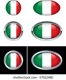 Italian Flag Buttons