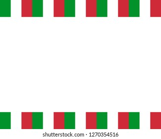 Italian flag with copy space