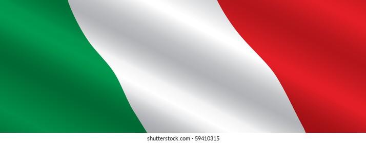 Italian Flag Flowing