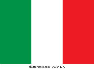 Italian flag illustration. Vector art.