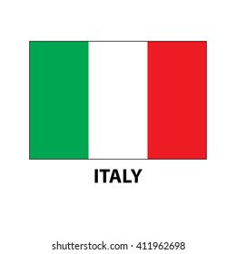Italian flag vector icon. Flag of Italy. Green, white, red flag design, card, drawing.