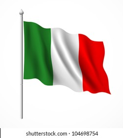 italian flag, vector illustration