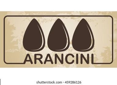 Italian food - Arancini - vector