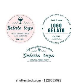 Italian Gelato vintage logo