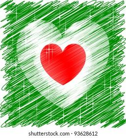 Italian heart flag for Unity celebration