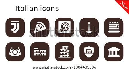 italian icon set 10